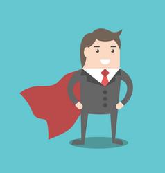 super businessman hero vector image