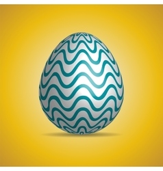template white Easter egg with pattern vector image