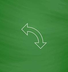 U-turn computer symbol vector