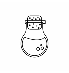 Flask of liquid icon outline style vector