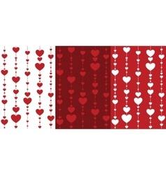 Seamless decorative hearts vector
