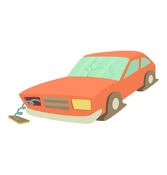Broken car icon cartoon style vector