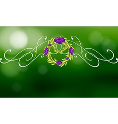A green and violet border design vector