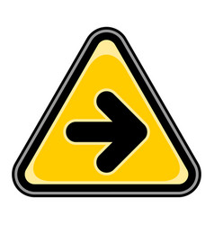 arrow right sign triangular sticker vector image