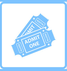 Cinema tickets icon vector