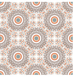 Ethnic seamless pattern with circle ornament vector