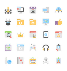 Web design flat colored icons 10 vector