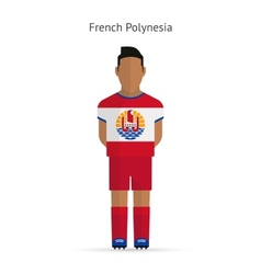 French polynesia football player soccer uniform vector