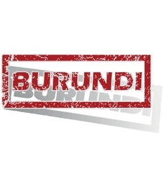 Burundi outlined stamp vector