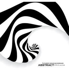 Spiral abstract background dynamic optical art vector