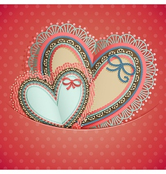 valentines day vintage card vector image