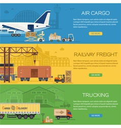 Trucking industry banners vector