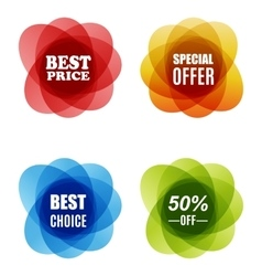 Special Offer best choice and Best Price Marks vector image