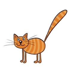 Striped ginger cat vector