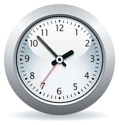 gray clock vector image