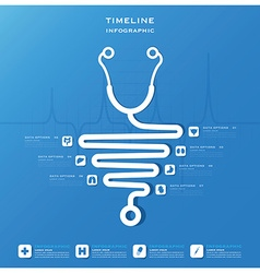 Timeline health and medical infographic design vector