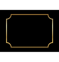 Gold frame beautiful simple black vector