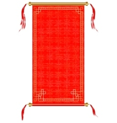 Asian scroll red and gold ornaments vector image