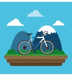 Bike and cyclist icons image vector