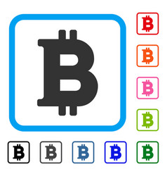 bitcoin framed icon vector image