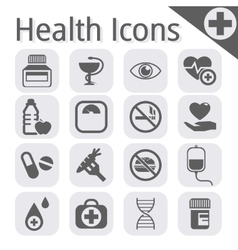 Black medical icon vector