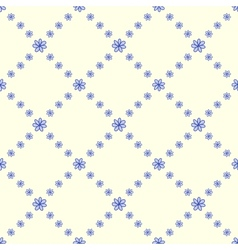Blue flowers seamless background vector image vector image