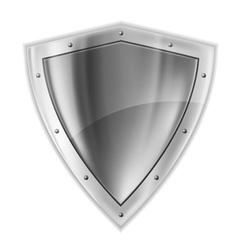Bright silver shiled vector image vector image