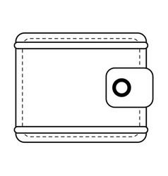 Closed wallet icon image vector