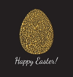 Easter greeting card with egg vector image vector image