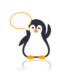 Emoji with winking pinguin vector