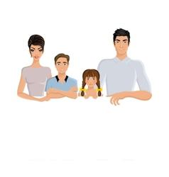 Family banner horizontal vector