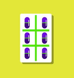 Flat icon design medical pills vector