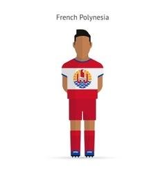 French polynesia football player soccer uniform vector
