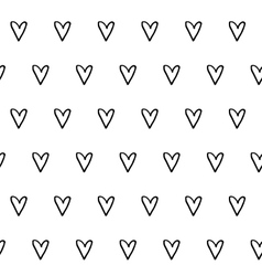 Hand drawn hearts seamless pattern vector