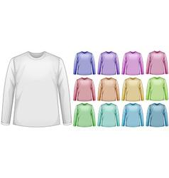 Long sleeves shirts vector image vector image