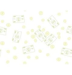 Money doodle pattern vector image