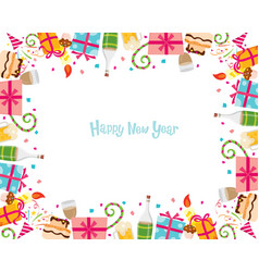 New year border vector