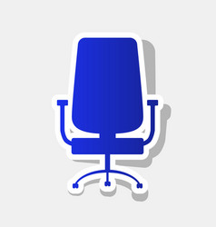 Office chair sign new year bluish icon vector