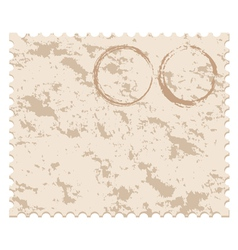 old blank grunge post stamp vector image