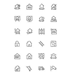 Real estate hand drawn doodle icons 3 vector
