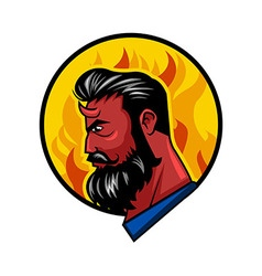 Red horn beardman vector