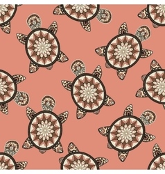 Seamless tortoise pattern in oriental style vector image vector image