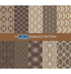 Simple retro seamless pattern vector image vector image
