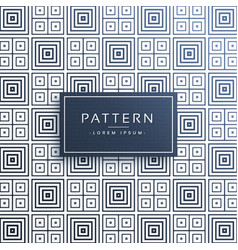 Stylish line pattern background in square shapes vector