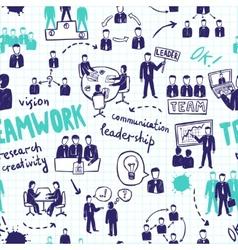Teamwork seamless pattern vector
