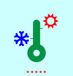 thermometer set it is color icon vector image