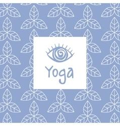 Third eye yoga studio design card vector