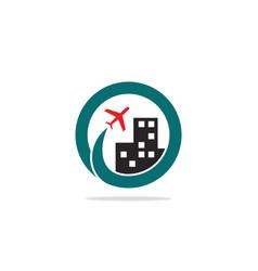 travel city logo vector image