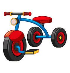 Tricycle with blue and red color vector