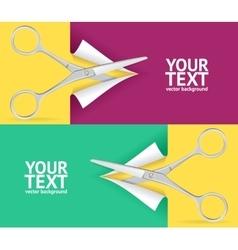Scissor banner set vector